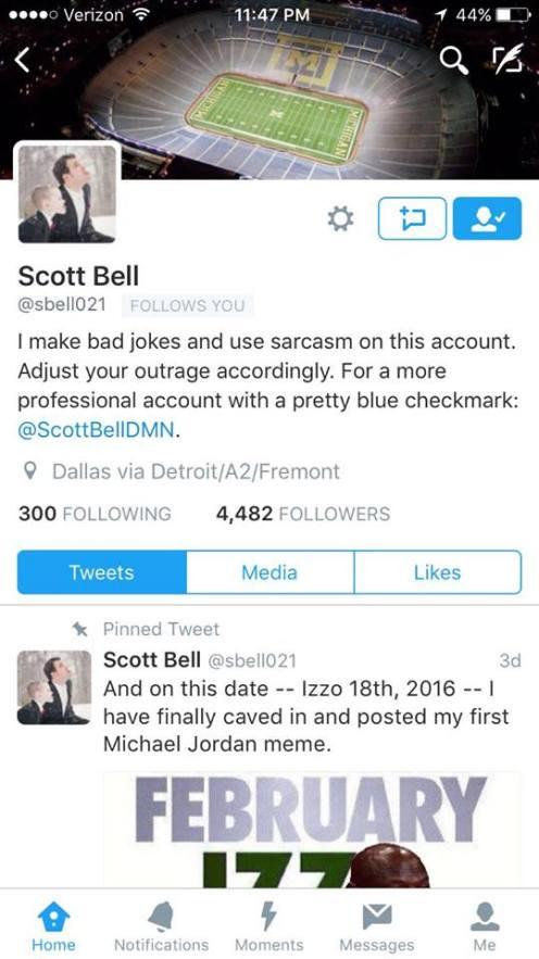 Scott's personal account.